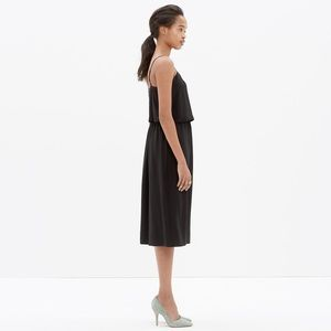 Madewell Dresses - Madewell Silk Overlay Dress in Black